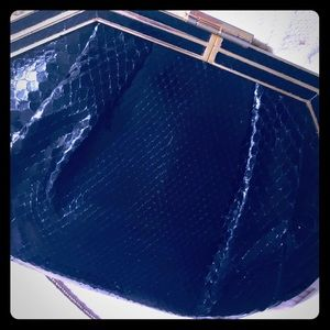 Caggiano Bags - CAGGIANO BLACK AND GOLD CLUTCH